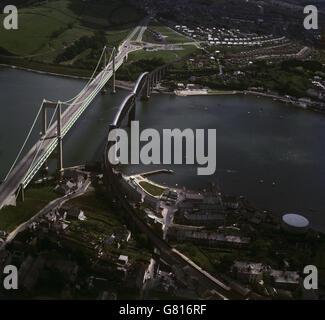 Landmarks - Tamar Road Bridge - Stock Photo