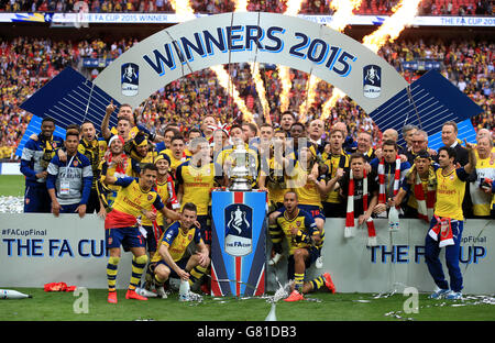 Soccer - FA Cup - Final - Arsenal v Aston Villa - Wembley Stadium - Stock Photo