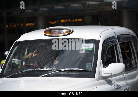 United Cabbies Group protest - Stock Photo