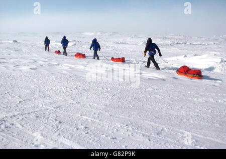 Schoolgirl in the Arctic Circle - Stock Photo