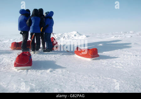 Schoolgirl in the Arctic Circle - Stock Photo
