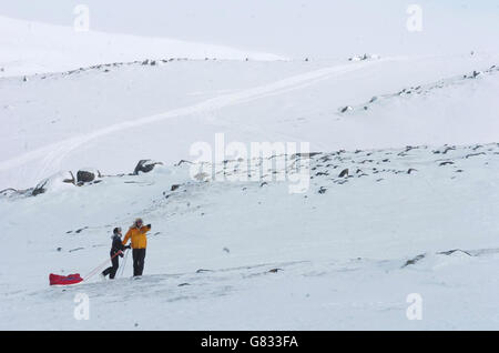 Alicia Hempleman-Adams exploration - Pangnirtung - Stock Photo