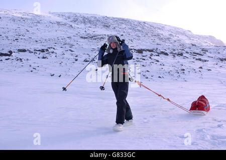 Alicia Hempleman-Adams exploration - Pangnirtung - Stock Photo
