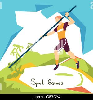 Pole Vaulting Sport Competition - Stock Photo
