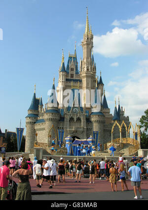 Cinderella Castle, Magic Kingdom, Disney World, Orlando, Florida, USA. - Stock Photo