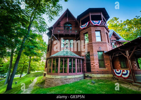 The Mark Twain House, in Hartford, Connecticut. - Stock Photo