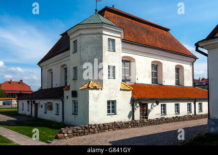 Orthodox Synagogue in Town of Tykocin - Stock Photo