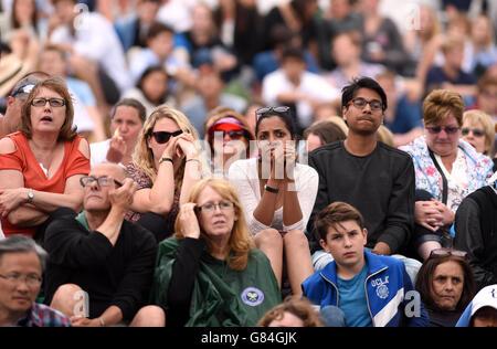 Tennis - 2015 Wimbledon Championships - Day Thirteen - The All England Lawn Tennis and Croquet Club - Stock Photo