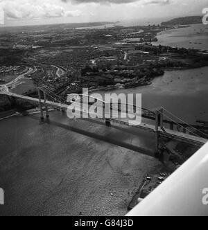 Buildings and Landmarks - Royal Albert Bridge - River Tamar - Stock Photo