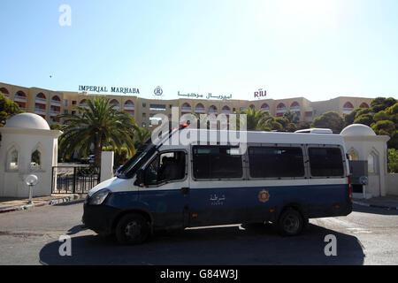 Tunisia terrorist attack - Stock Photo