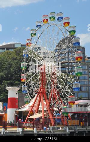 Russian wheel in Luna Park - Stock Photo