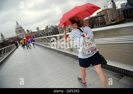 Summer weather July 15th 2015 - Stock Photo