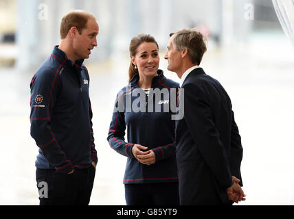 Royal visit to the America's Cup World Series - Portsmouth - Stock Photo