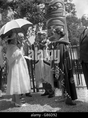 Royalty - Centenary of British Columbia - Queen Mother - Windsor Great Park - Stock Photo