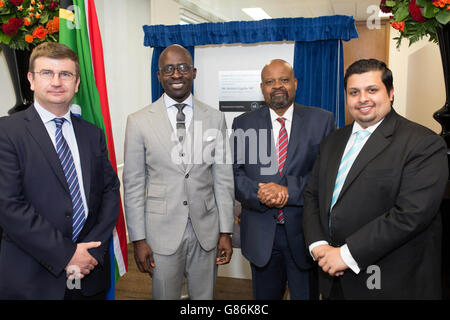 Opening of new South Africa Visa Application Centre - London - Stock Photo