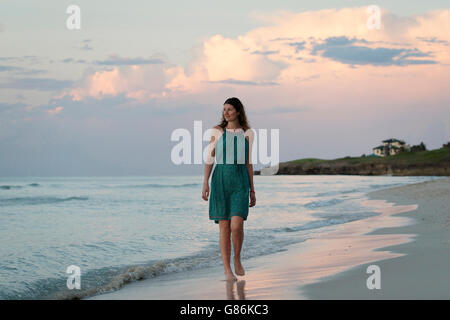 Woman posing on a tropical beach - Stock Photo