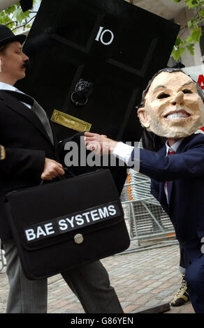 BAE Annual General Meeting - The Campaign Against Arms Trade Protest - Stock Photo