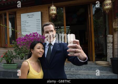 Osborne visits China - Day One - Stock Photo
