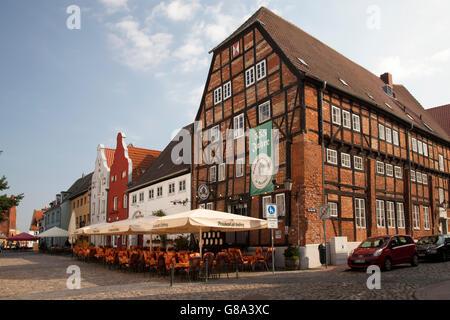 Brauhaus am Lohberg brewhouse, Wismar, Mecklenburg-Western Pomerania, PublicGround - Stock Photo