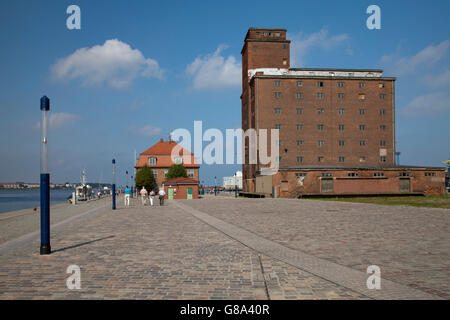 Baumhaus and storage building in the waterfront, port, Wismar, Baltic Sea, Mecklenburg-Western Pomerania, PublicGround - Stock Photo