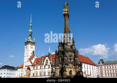 Holy Trinity Column in Olomouc, Czech Republic - Stock Photo