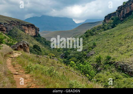 Giants Castle KwaZulu-Natal nature reserve, Drakensberg South Africa - Stock Photo