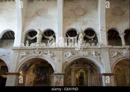 Italy, Lombardy, Almenno S. Salvatore, the Church of St. Mary of Consolation - Stock Photo
