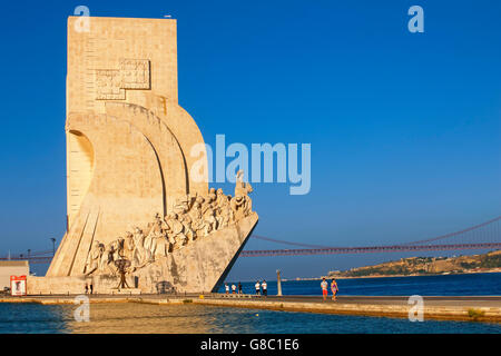 The Monument to the Discoveries in Belem, Lisbon - Stock Photo