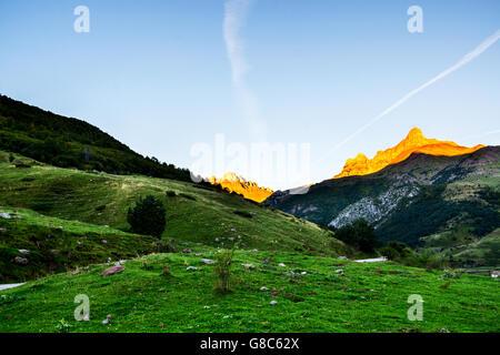 Autumn Pyrenees mountains - Stock Photo