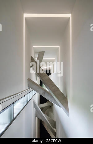 Berlin, Germany. Interior of the Jewish Museum, by the architect Daniel Libeskind (1999) - Stock Photo