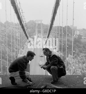 Landmarks - Clifton Suspension Bridge - Bristol - Stock Photo
