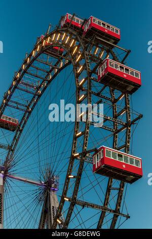 Wiener Riesenrad, Prater, Vienna, Austria - Stock Photo