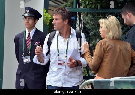 Wimbledon, London, UK, 26 June 2016,  Patrick Hart 'Pat' Cash Australian retired professional tennis player arrives - Stock Photo