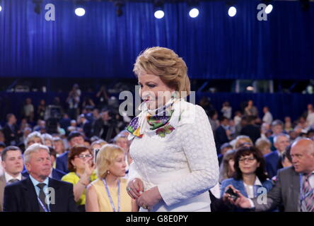 Moscow, Russia. 26th June, 2016. Russian Federation Council chairwoman Valentina Matviyenko at the 15th Congress - Stock Photo