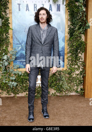 Hollywood, California, USA. 27th June, 2016. Hozier at the Los Angeles premiere of 'The Legend Of Tarzan' held at - Stock Photo