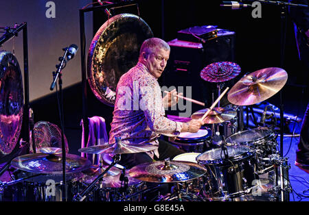 Hamilton, ON, Canada. 8th June, 2016. 08 June 2016 - Hamilton, Ontario, Canada. Emerson, Lake and Palmer drummer - Stock Photo