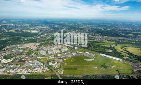 Aerial view, Centro Shopping Centre Oberhausen area Europaallee 1 opposite Bilfinger area earlier Elexia, Oberhausen, - Stock Photo