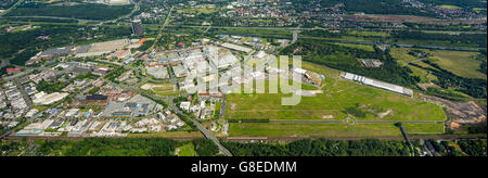 Aerial view, Centro Shopping Centre Oberhausen area Europaallee 1 against Bilfinger area earlier Elexia, New Centre - Stock Photo