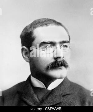 Rudyard Kipling. Portrait of the English writer, Joseph Rudyard Kipling. Photo by Bain News Service, date unknown - Stock Photo