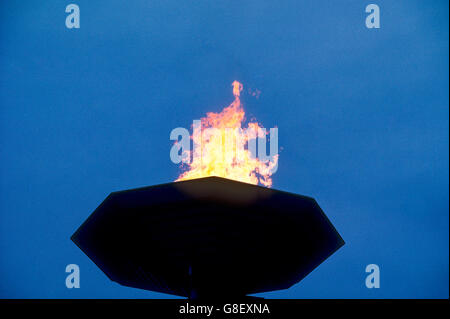 Olympic Flame at the opening ceremonies for the 1988 Olympic Summer Games, Seoul, Korea - Stock Photo