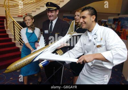 Gulf Air's Dublin to Bahrain Launch - Stock Photo