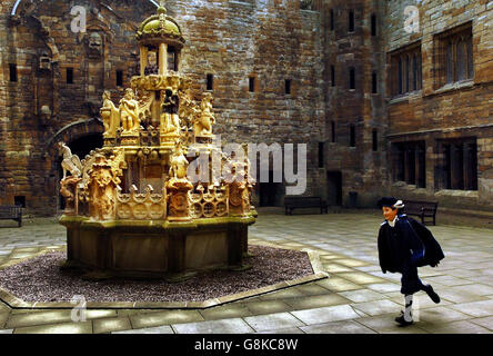 Linlithgow Palace Fountain - Stock Photo