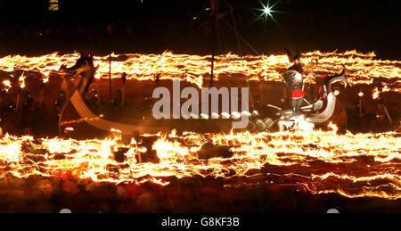 Up Helly Aa festival 2016 - Stock Photo