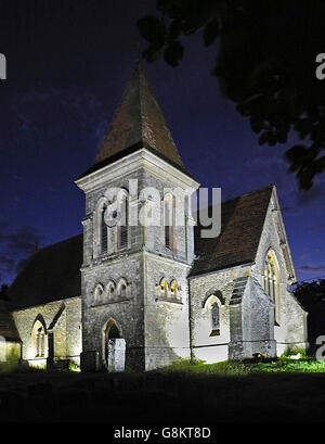 The Parish Church of the Holy Trinity in the village of Duncton, West Sussex. - Stock Photo