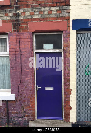 Asylum seekers doors - Stock Photo