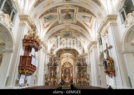 basilika st lorenz in kempten allgaeu bayern deutschland stock photo 119338549 alamy. Black Bedroom Furniture Sets. Home Design Ideas