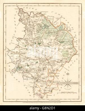 Antiques Helpful Antique County Map Of Huntingdonshire By John Cary Kimbolton St Neots 1793