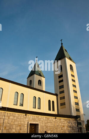 Church, sanctuary in Medjugorje, Bosnia and Herzegovina, Europe - Stock Photo