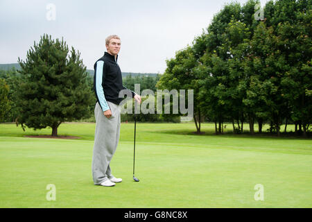 Professional golfer Seamus Power from Waterford, Ireland three-time Irish Youths champion represented Ireland in - Stock Photo