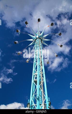 Starflyer chair ride, Southbank Centre, Jubilee Gardens, London, UK. - Stock Photo